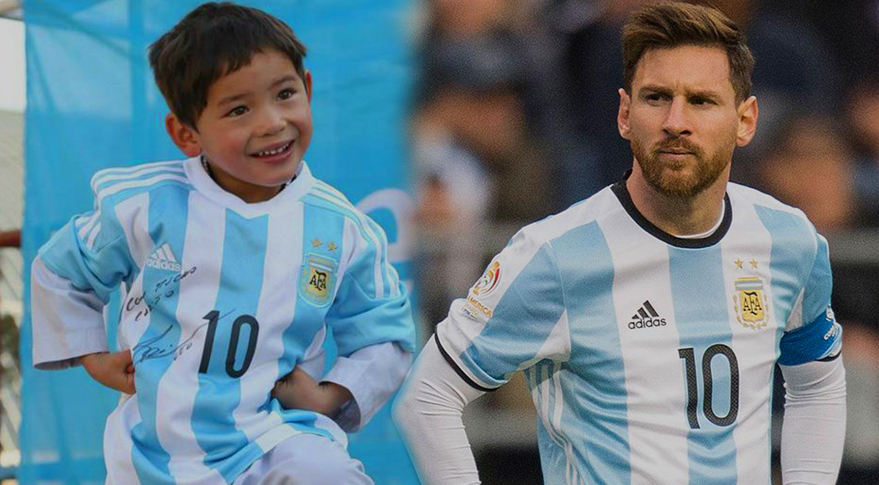 7 Years Old Lionel Messi Afghani fan is on Taliban's Target