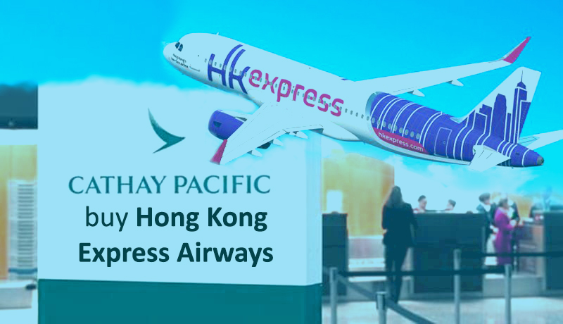 Cathay Pacific to buy Hong Kong Express Airways from 4.93 billion Hong Kong dollars
