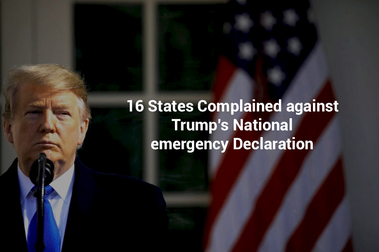 Complaint filed by 16 States against Trump's National Emergency Declaration
