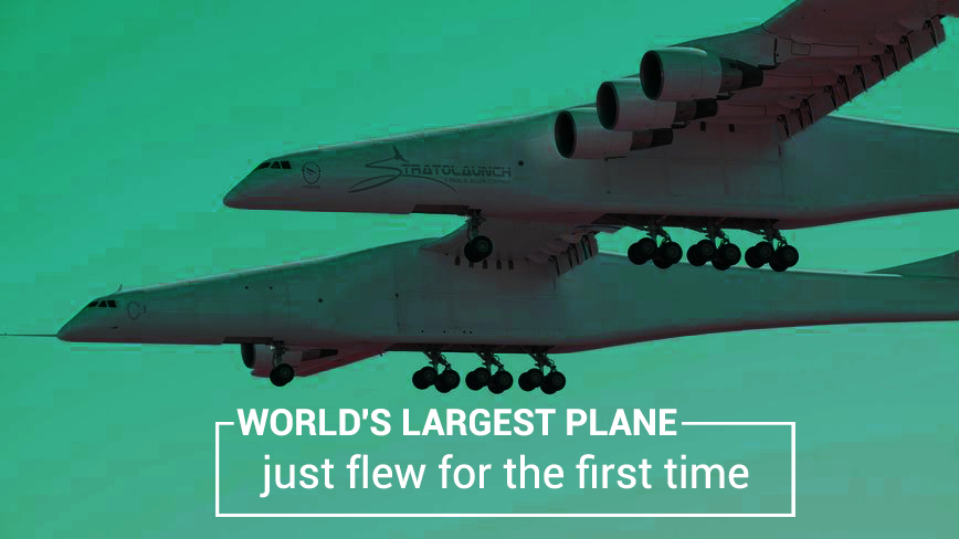 For the First Time Largest Aeroplane of the World Flew