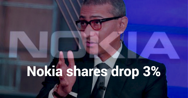 Downgrade Goldman citing Competition from Ericsson and Samsung Drop 3% Shares of Nokia