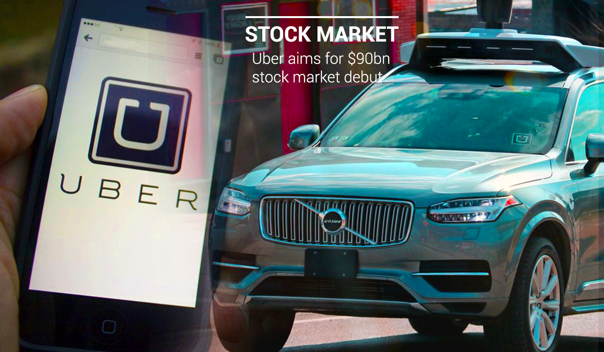 Uber Targets $90bn Stock Market Debut