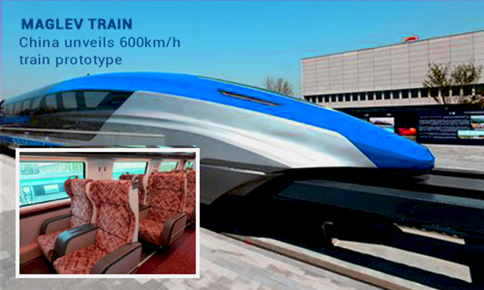 China is going to Reveal 600 km per hour Maglev Train Prototype