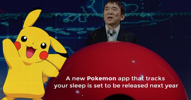 Track Your Sleep with a New Pokémon app 'Pokémon Sleep'