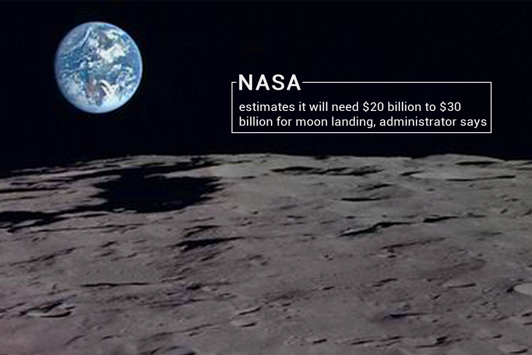 It will Cost $20 to $30 billion for Moon Landing – NASA