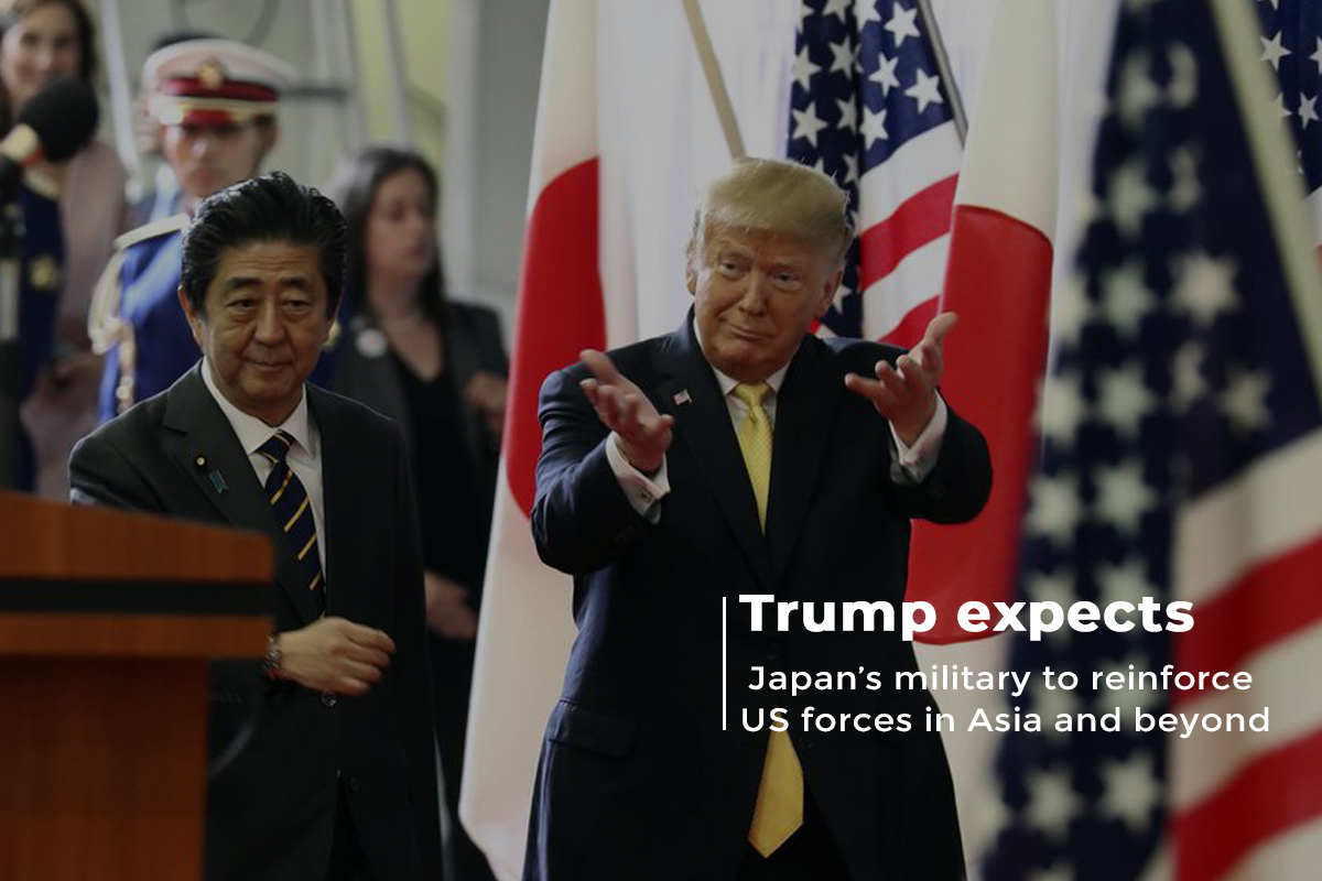 Trump makes expectations with Japan's Military to Support US Forces in Asia