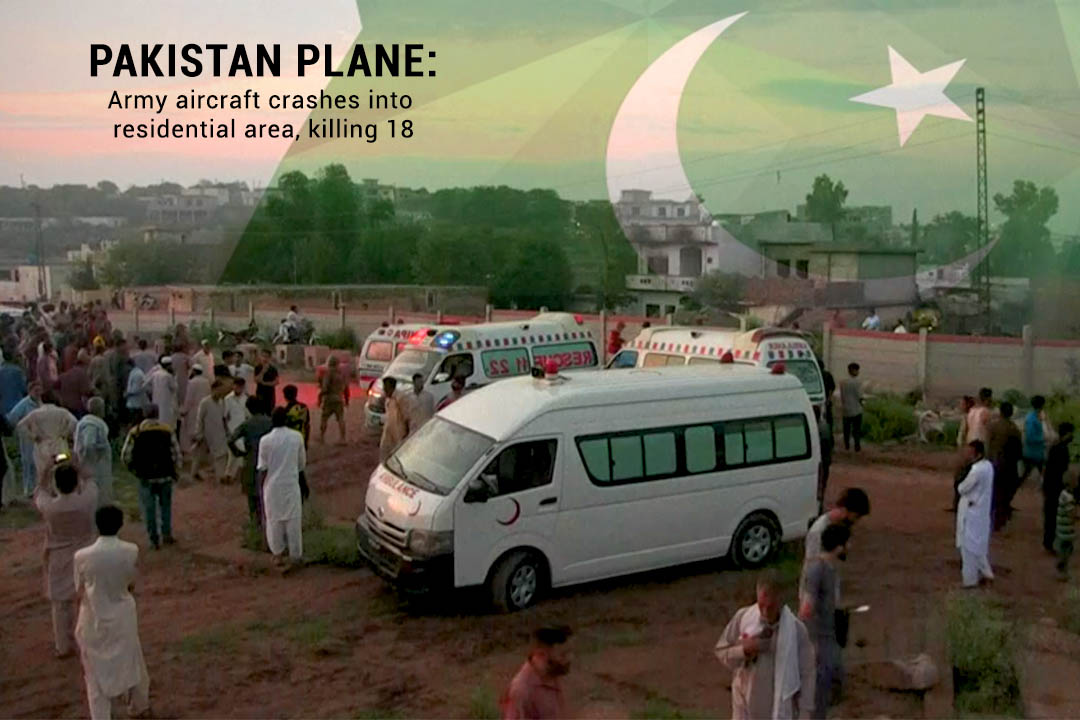 18 martyred in the Army Training Plane Crash in Rawalpindi