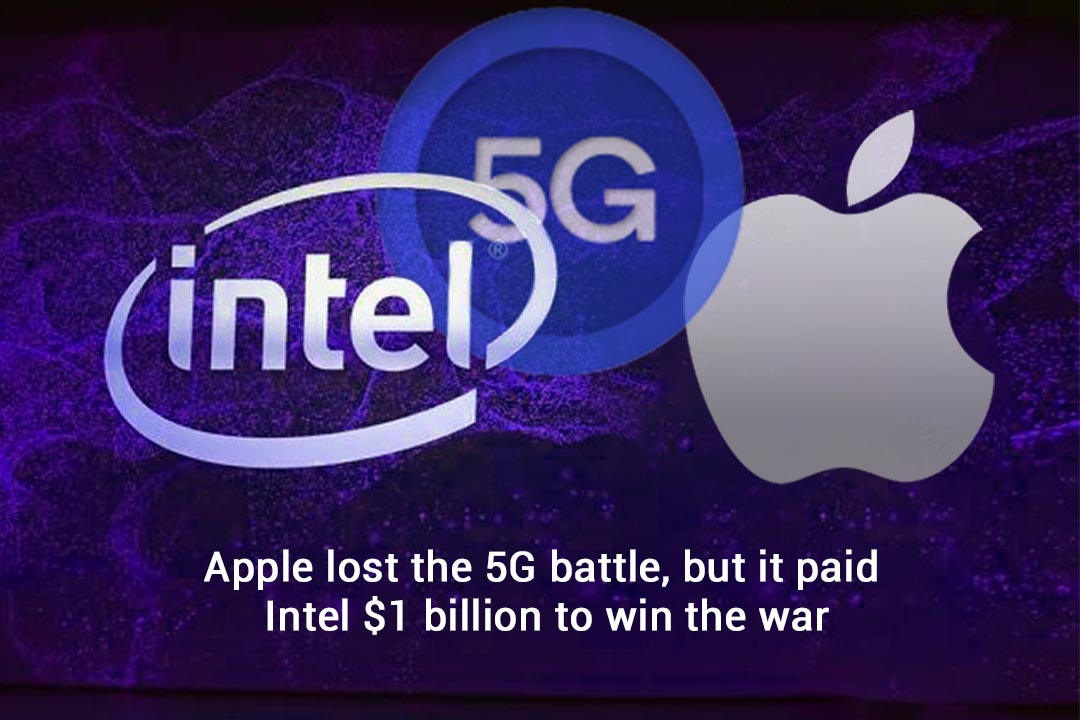Apple making efforts to win the race of 5G and paid $1b to Intel