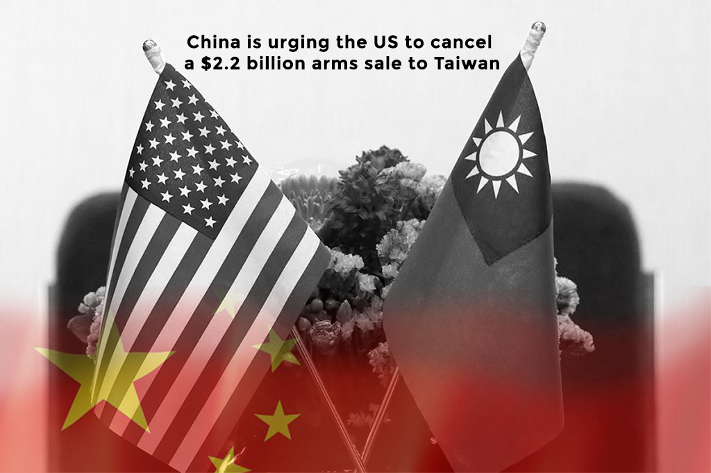 China is influencing the United States to cancel arms sale to Taiwan