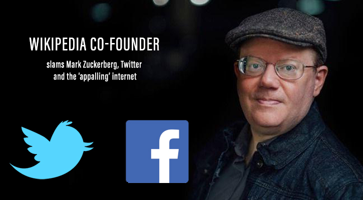 Wikipedia co-founder criticized Facebook & Twitter for Misusing