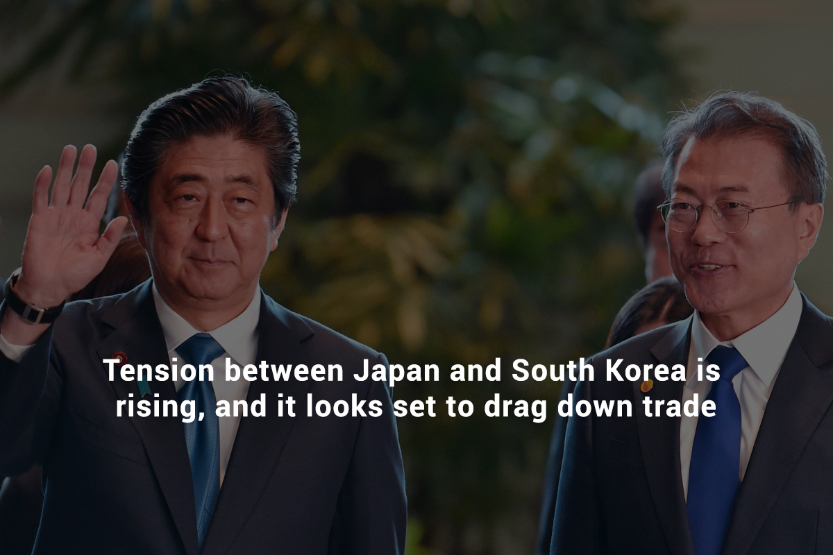 Strain between South Korea and Japan is growing
