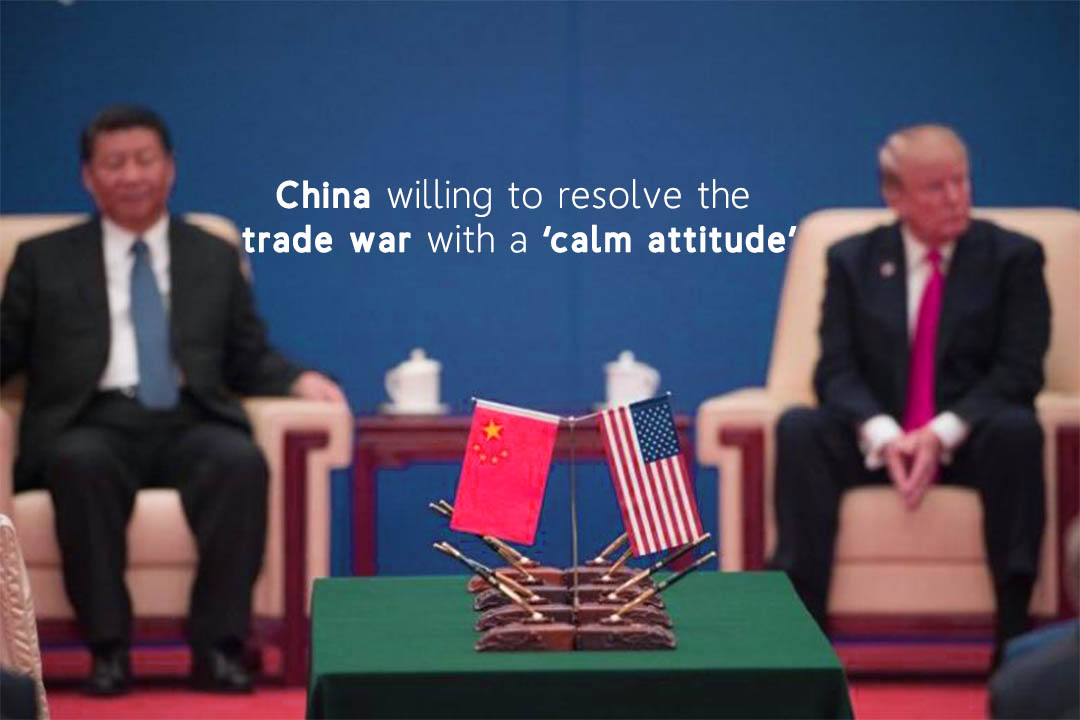 China Settles to solve the Trade War with peaceful Attitude