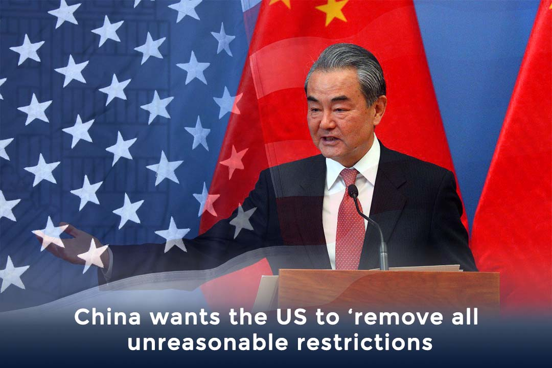 China expected that US will remove illogical restrictions – Wang Yi