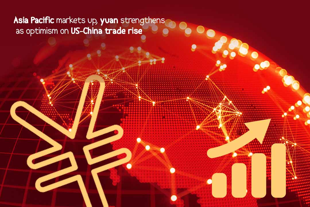 Asian Markets risen after yuan strengthens after US-China Deal optimism