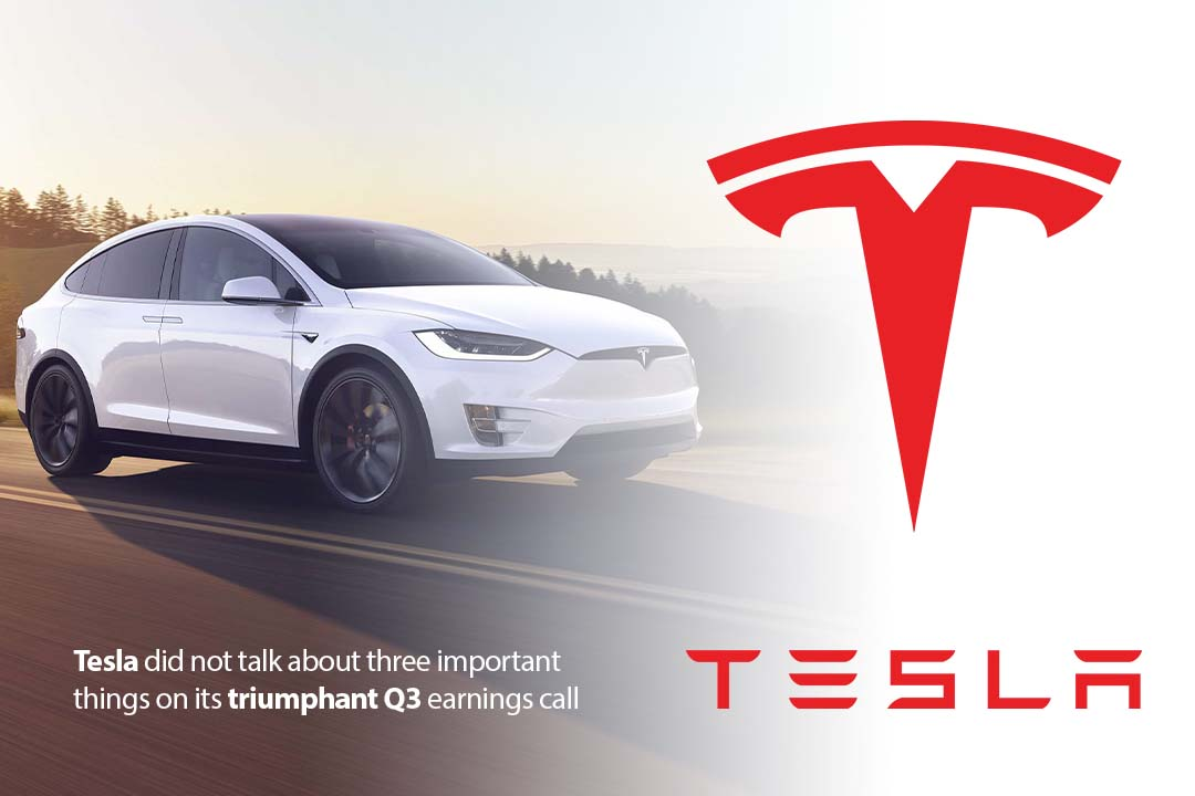Tesla skips 3 major points on its successful Q3 Earnings call