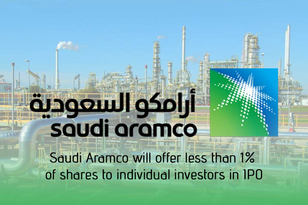 Aramco will offer 0.5% of shares to individual investors in IPO