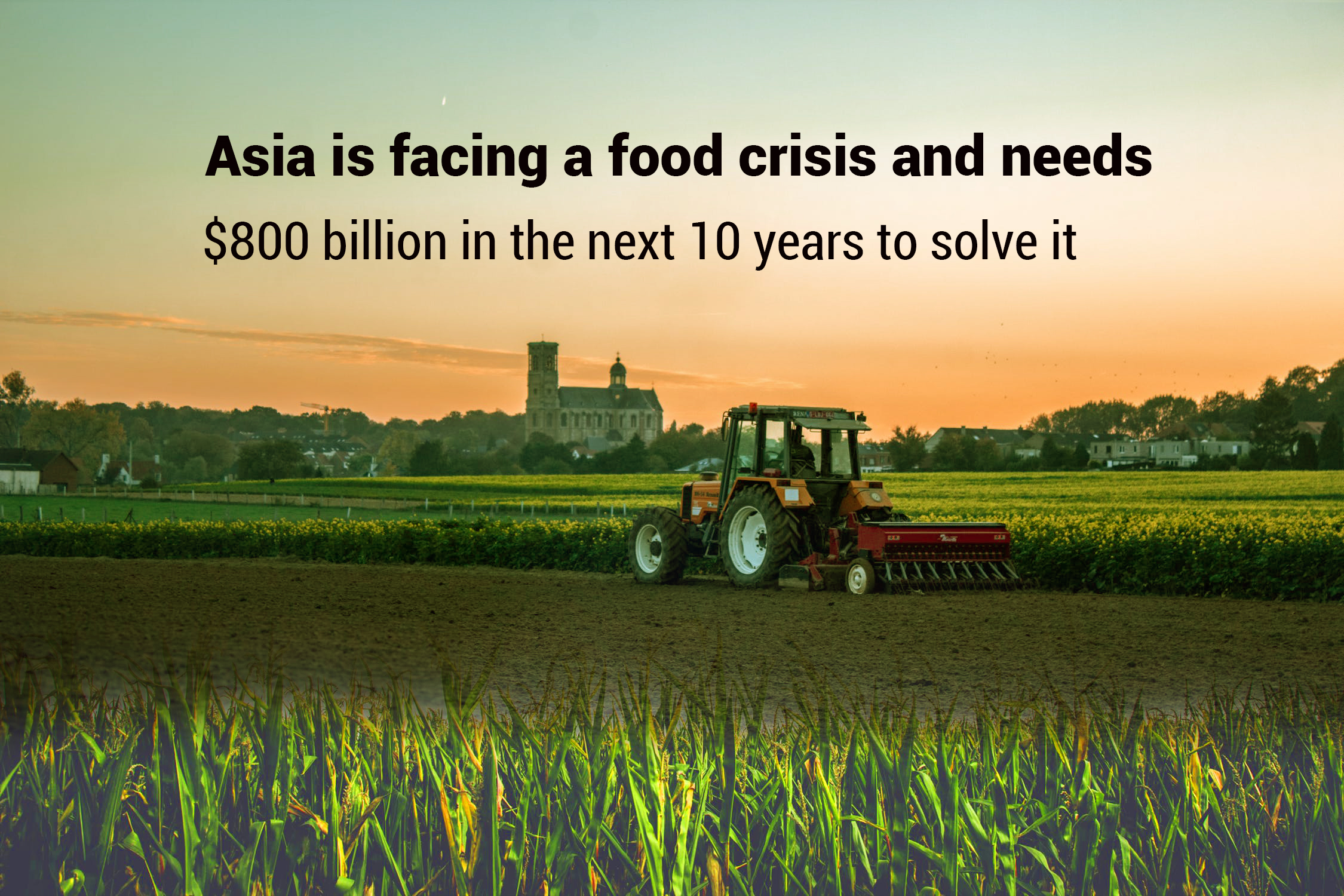 Asia unable to feed itself, needs $800 billion in the upcoming ten years