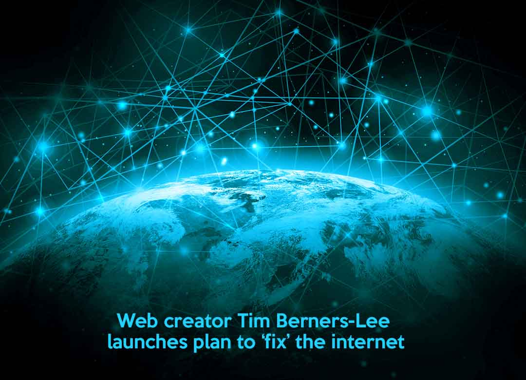 Tim Berners-Lee, creator of web shared plan to fix the Internet
