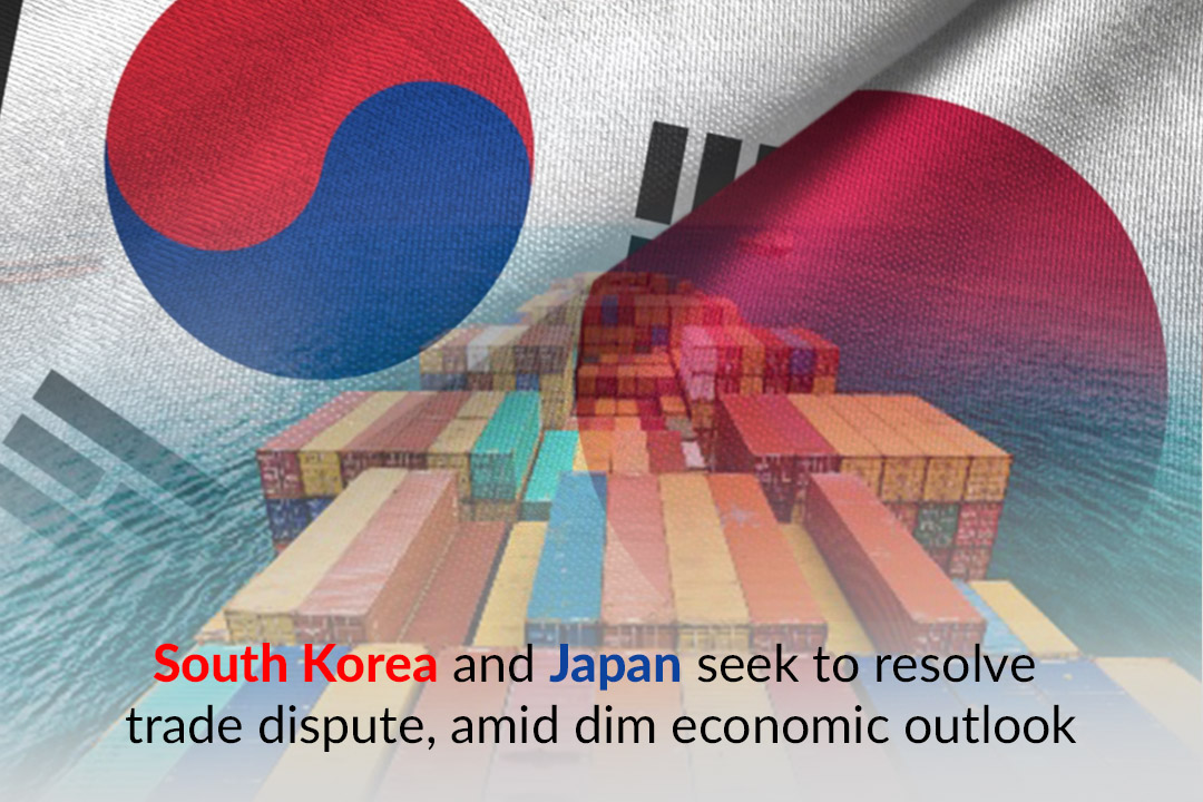 Japan and South Korea aim to resolve trade tensions