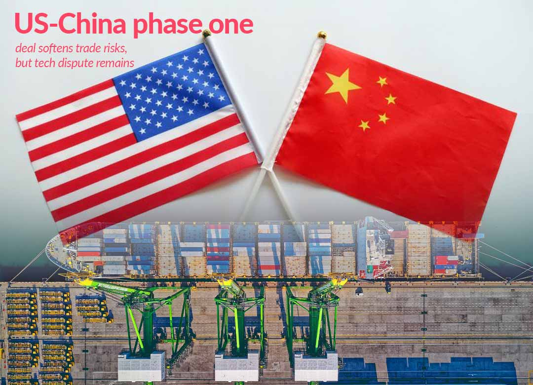 Phase 1 Trade Deal lessen trade risks, but tech conflict remains