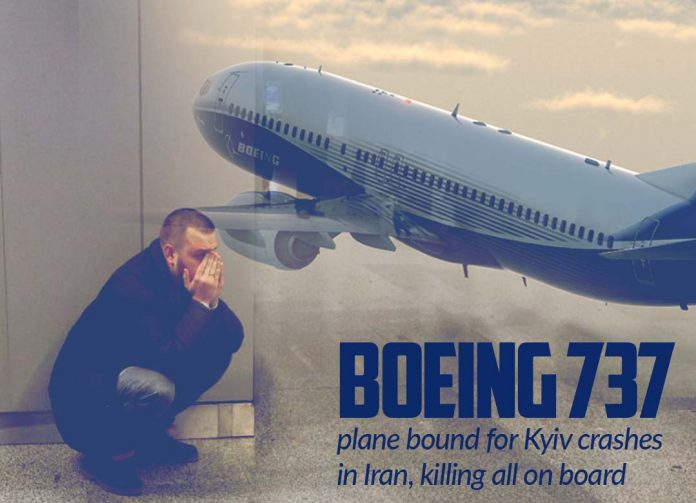 Boeing 737 of Ukraine Airlines crashes in Iran after Takeoff killing all 176
