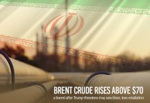Brent Crude upsurge over $70 per barrel after Trump threatens sanctions on Iraq