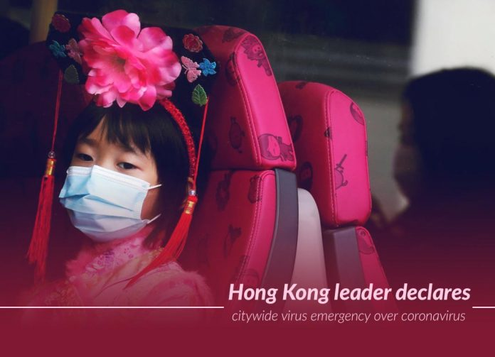 Carrie Lam declares a coronavirus emergency in Hong Kong
