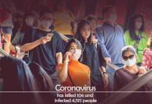 Coronavirus killed 106 people and infected 4,515 People
