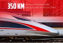 First 350 kph Autonomous Bullet Train of the world started service in China