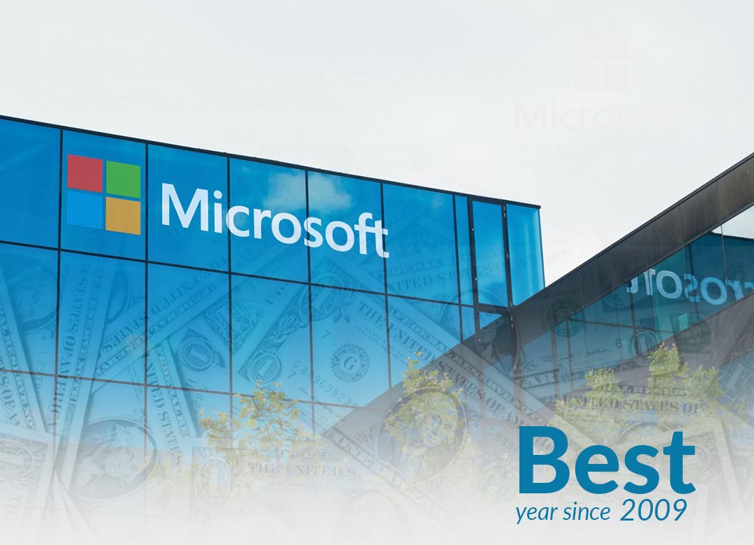 Microsoft completes 2019 as its best year since 2009