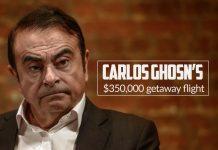 Nissan former chairman Ghosn's $350,000 escape flight