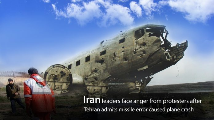 Protesters in Iran show anger after Iran admits plane crash mistakenly