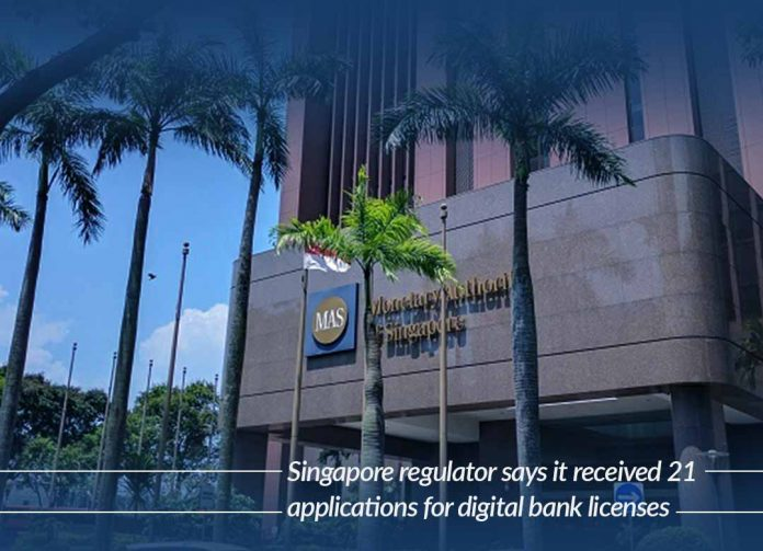 Received about 21 requests for digital bank licenses – Singapore
