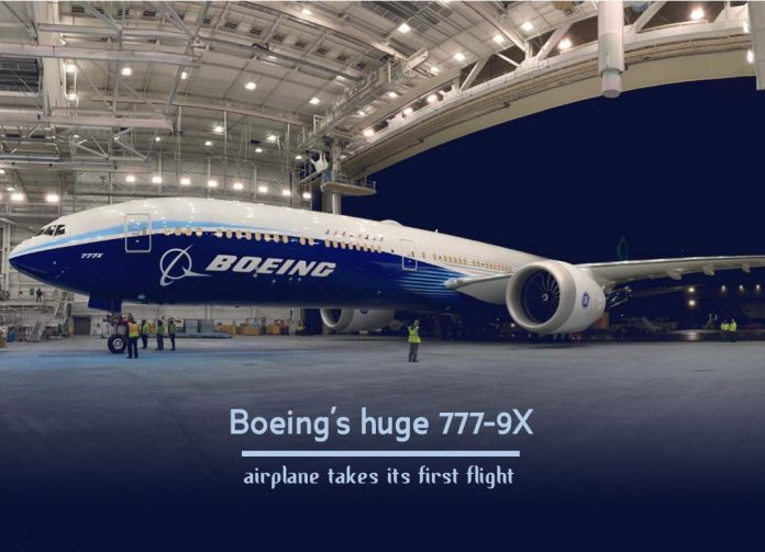Largest Boeing 777-9X of the world takes its First Flight