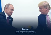 Democrats making rumors that Russia helping Trump to reelect