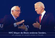 New York Mayor De Blasio endorsed Bernie Sanders