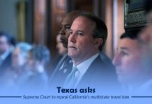 Texas filed a suit to ask SC to revoke California ban