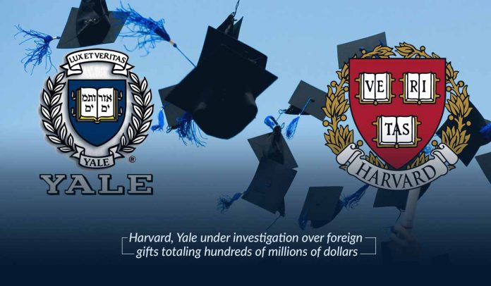 Harvard and Yale under investigation over million worth foreign gifts