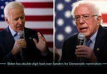 Joe Biden took double-figure lead over Sen. Sanders