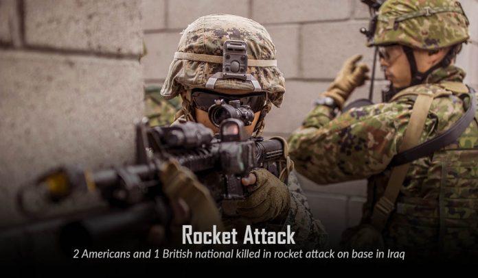 Two U.S. and one U.K national killed in Rocket Attack at Taji Base