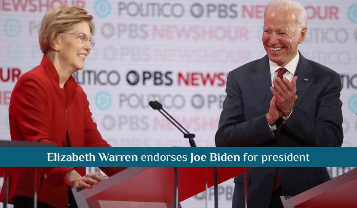 Sen. Elizabeth Warren officially Endorses Joe Biden for President