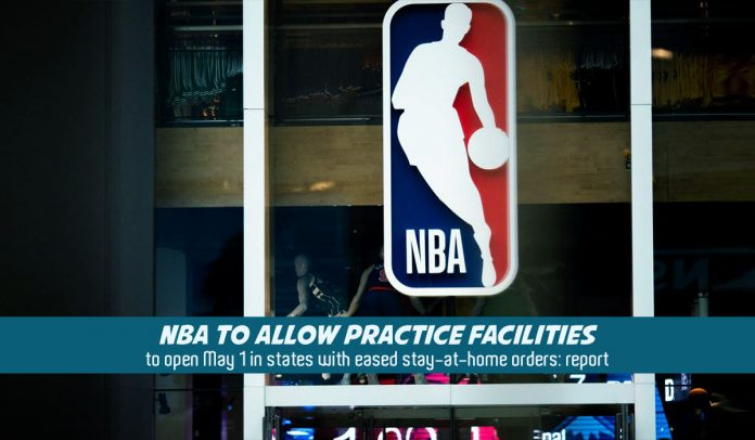 NBA going to open practice facilities in U.S. states with eased restrictions
