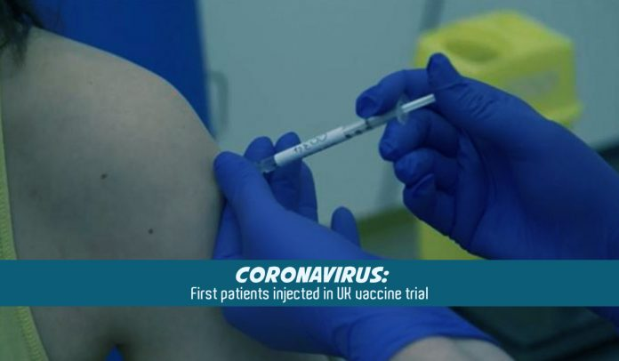 Oxford University injected first human vaccine trial in the UK