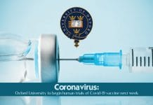 Oxford University to start Coronavirus vaccine human trials next week