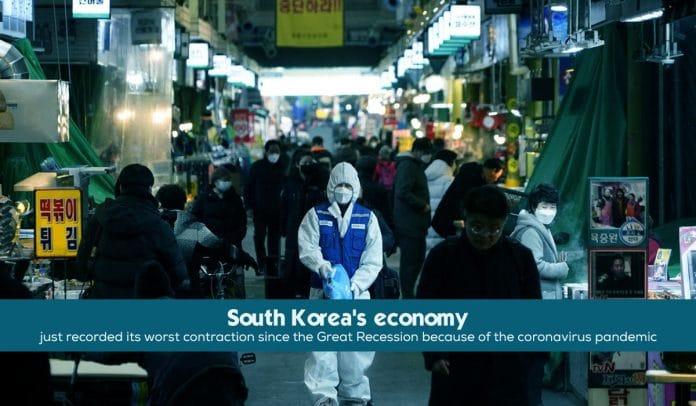 South Korea economy recorded its worst Shrank since 2008 financial crisis