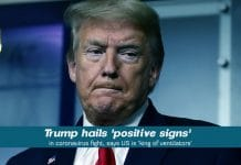 Trump cited positive signs to combat COVID-19 Pandemic