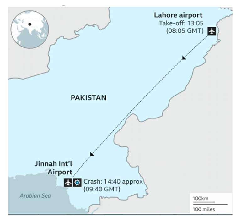 Several killed as PIA plane crashed on Homes in Karachi