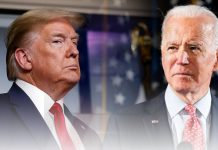 Donald Trump criticizes Joe Biden in Rose Garden
