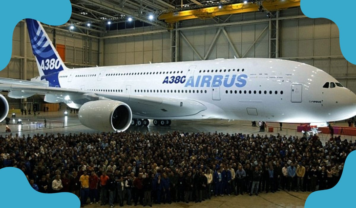 Assembling of last ever Superjumbo Airbus A380